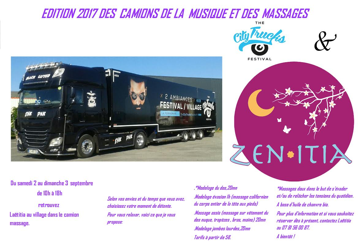 City truck affiche massage